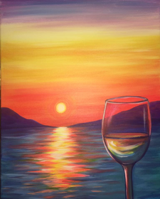 Paint and Sip at Riggers Loft Wine Company, Richmond, CA 2017