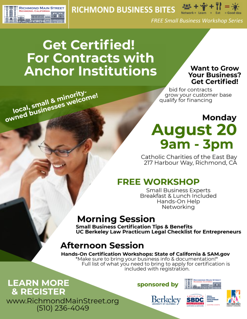 Get Certified For Contracts With Anchor Institutions Richmond